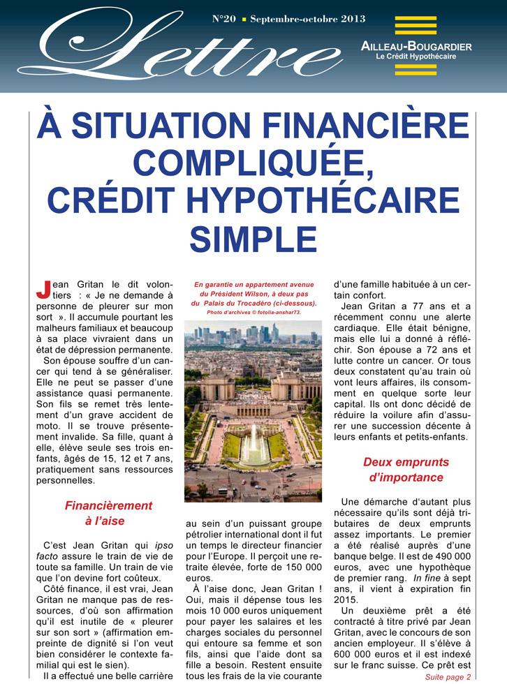 À situation financière compliquée, crédit hypothècaire simple
