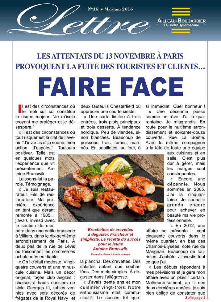 Faire face