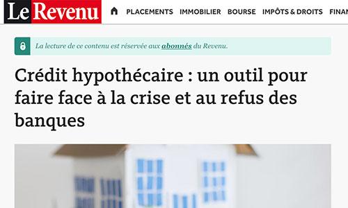 Capture d'article Le Revenu