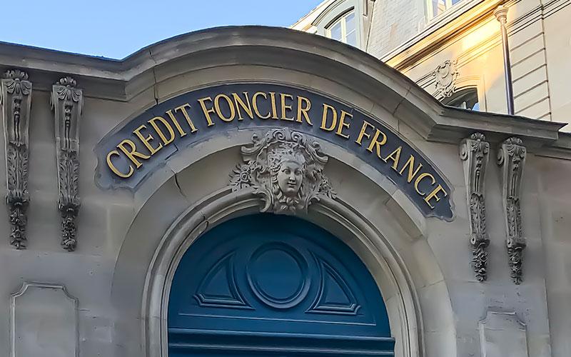 Les bureaux du crédit foncier de france dans le centre de Paris