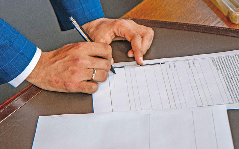 Signature d'une convention de compte courant